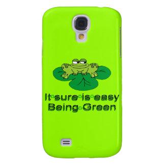 Rana seguro es el ser fácil mota verde de Iphone 3 Funda Para Galaxy S4