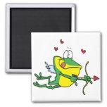 rana tonta del froggy de la tarjeta del día de San Imanes De Nevera