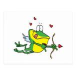 rana tonta del froggy de la tarjeta del día de San Postales
