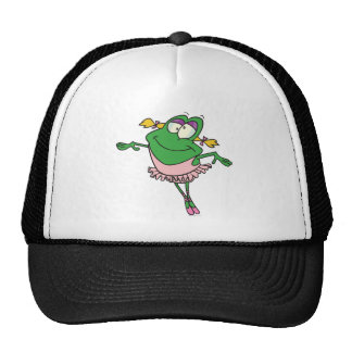 rana tonta linda del froggy del ballet de la baila gorros
