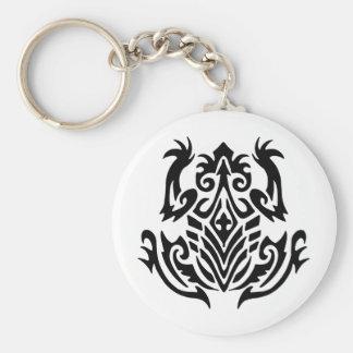 Rana tribal del tatuaje llavero personalizado