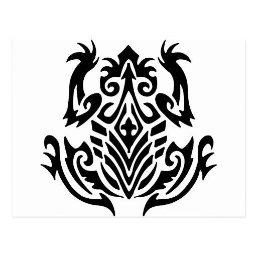 Rana tribal del tatuaje postales