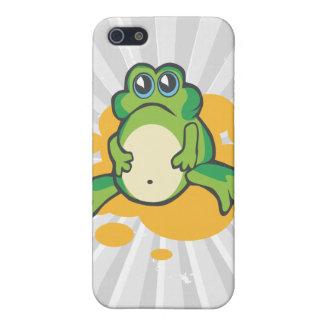 rana triste tonta del froggy del dibujo animado iPhone 5 fundas