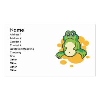 rana triste tonta del froggy del dibujo animado tarjetas de visita
