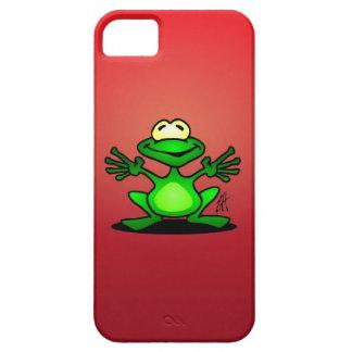 Rana verde amistosa iPhone 5 cárcasa