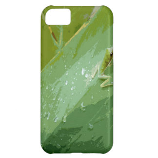 Rana verde Bejeweled Funda Para iPhone 5C
