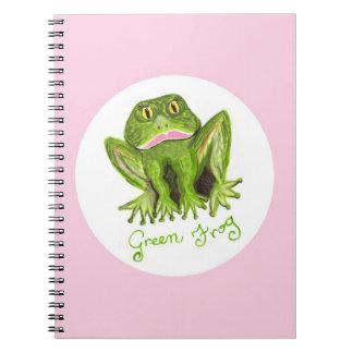rana verde cuadernos