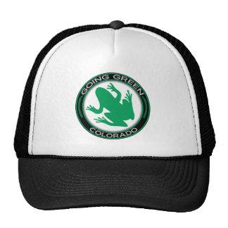 Rana verde de Colorado que va Gorros