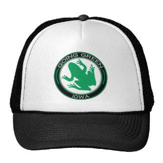 Rana verde de Iowa que va Gorro De Camionero