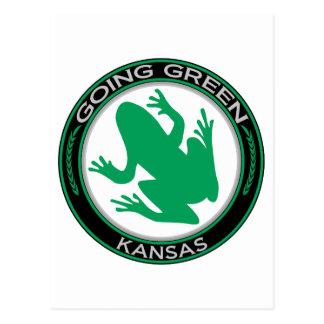 Rana verde de Kansas que va Tarjeta Postal