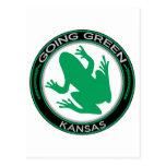 Rana verde de Kansas que va Tarjetas Postales