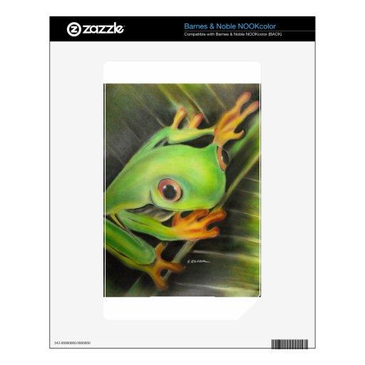 rana verde de la bella arte NOOK color calcomanías