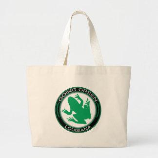 Rana verde de Luisiana que va Bolsa Lienzo