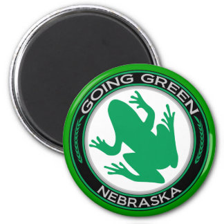 Rana verde de Nebraska que va Imán Redondo 5 Cm