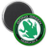 Rana verde de Nebraska que va Iman De Frigorífico