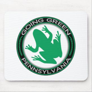 Rana verde de Pennsylvania que va Alfombrillas De Ratón