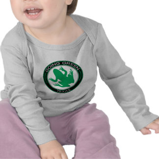Rana verde de Tejas que va Camiseta