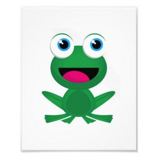 Rana verde del cuarto de niños del sitio de los ni cojinete