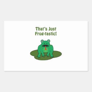 Rana verde del dibujo animado que es apenas rectangular altavoces