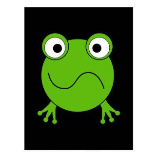 Rana verde. El parecer confundido Postales