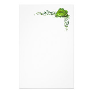 Rana verde inmóvil  papeleria de diseño