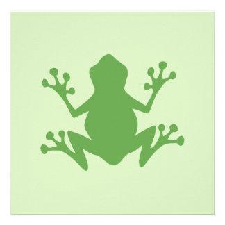 Rana verde invitaciones personalizada