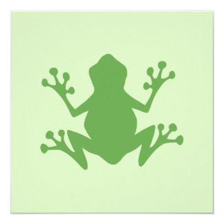 """Rana verde invitación 5.25"""" x 5.25"""""""