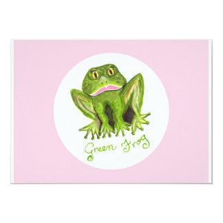 rana verde invitación 12,7 x 17,8 cm