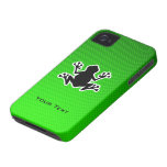 Rana verde iPhone 4 fundas