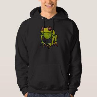 Rana verde jersey encapuchado