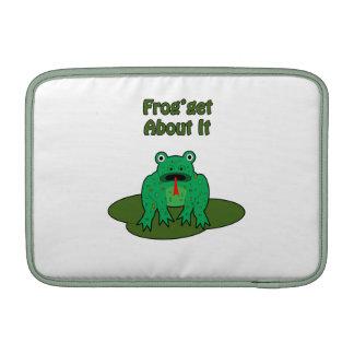 Rana verde - la rana consigue sobre ella fundas macbook air