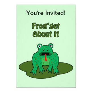 Rana verde - la rana consigue sobre ella comunicados personalizados