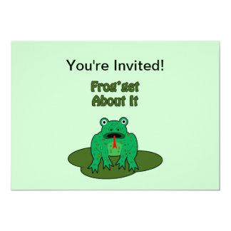 Rana verde - la rana consigue sobre ella comunicado personal