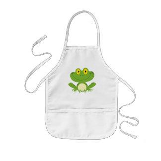 Rana verde linda delantal infantil