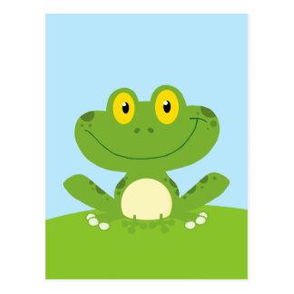 Rana verde linda postales