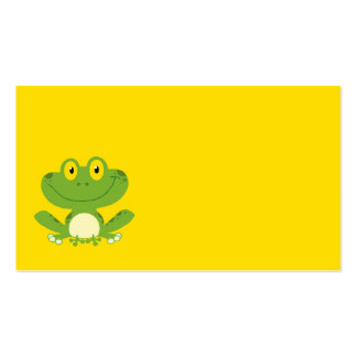 Rana verde linda tarjetas de visita