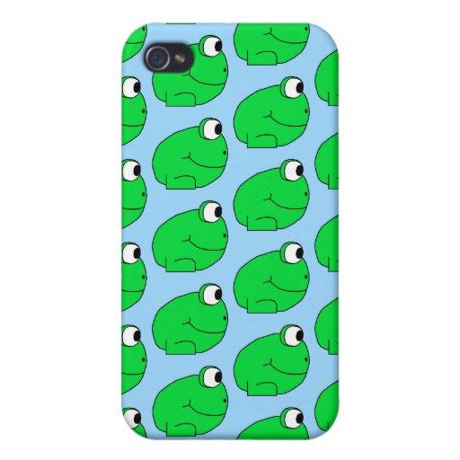 Rana verde Pern. iPhone 4 Funda