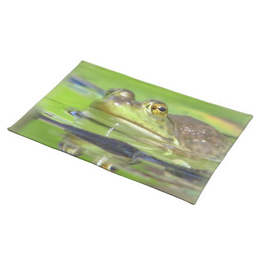 Rana verde Placemat Manteles Individuales