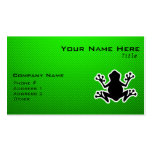 Rana verde plantillas de tarjetas de visita