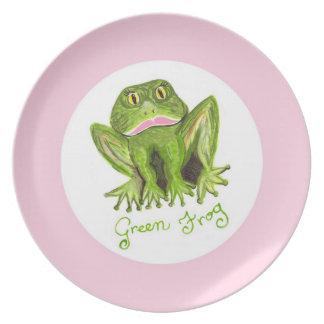 rana verde platos