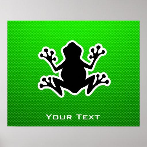 Rana verde poster