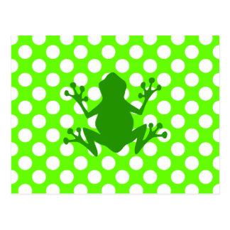Rana verde tarjeta postal