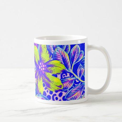 Rana y flor 2i tazas de café