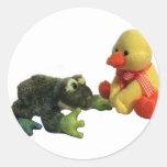 Rana y pato etiqueta