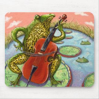 rana y violoncelo tapetes de raton