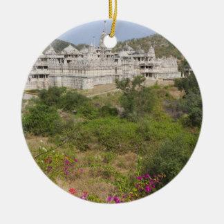 Ranakpur Jain Temple, Ranakpur, Rajasthan, India Double-Sided Ceramic Round Christmas Ornament