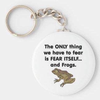 Ranas 1 del miedo sí mismo llavero redondo tipo pin