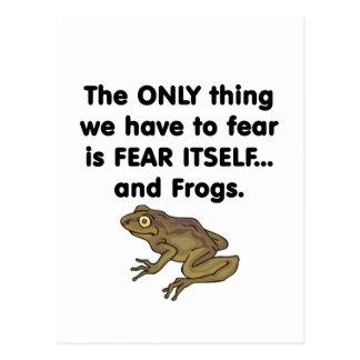 Ranas 1 del miedo sí mismo postal
