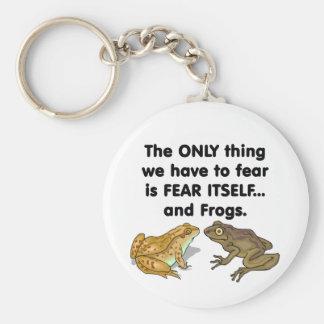 Ranas 2 del miedo sí mismo llavero redondo tipo pin