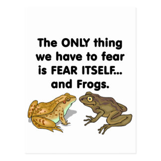 Ranas 2 del miedo sí mismo postal